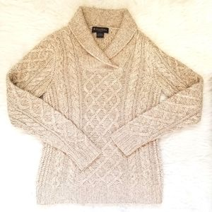 Brooks Brothers Silk Cashmere Handknit Cableknit